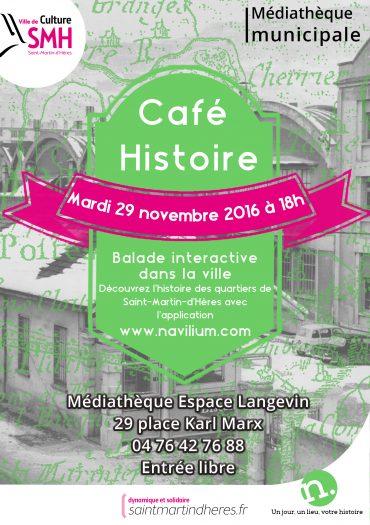 café histoire insolite et interactif à saint martin d'hères