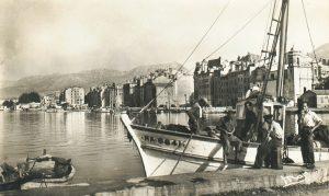 Le vieux port de Toulon après la Seconde Guerre mondiale en 1950, histoire de Toulon